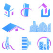 Real estate icons — Stockvectorbeeld