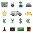 Finance and banking icons - Stok Vektör