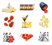 Casino and gambling icons 2 — Stok Vektör