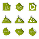 Eco tags — Stock Vector