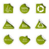 Eko etiketleri — Stok Vektör