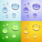 Water drops — Stock Vector