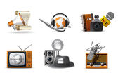 Journalism and press icons — Stock Vector
