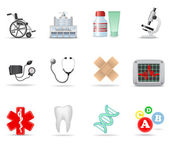 Medical icons part 2 — Stock Vector