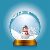 Snowglobe — Stock Vector