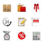 Compras iconos parte 1 — Vector de stock