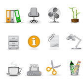 Office icons 2 — Stock Vector