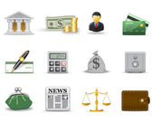 Banking icons — Stock Vector