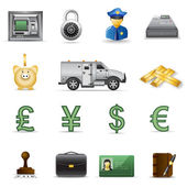 Finance and banking icons — Stock Vector
