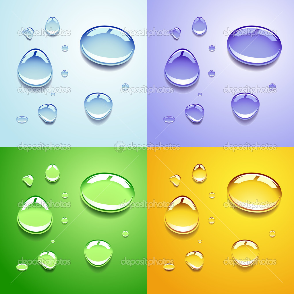 Water drops — Stock Vector #5402608