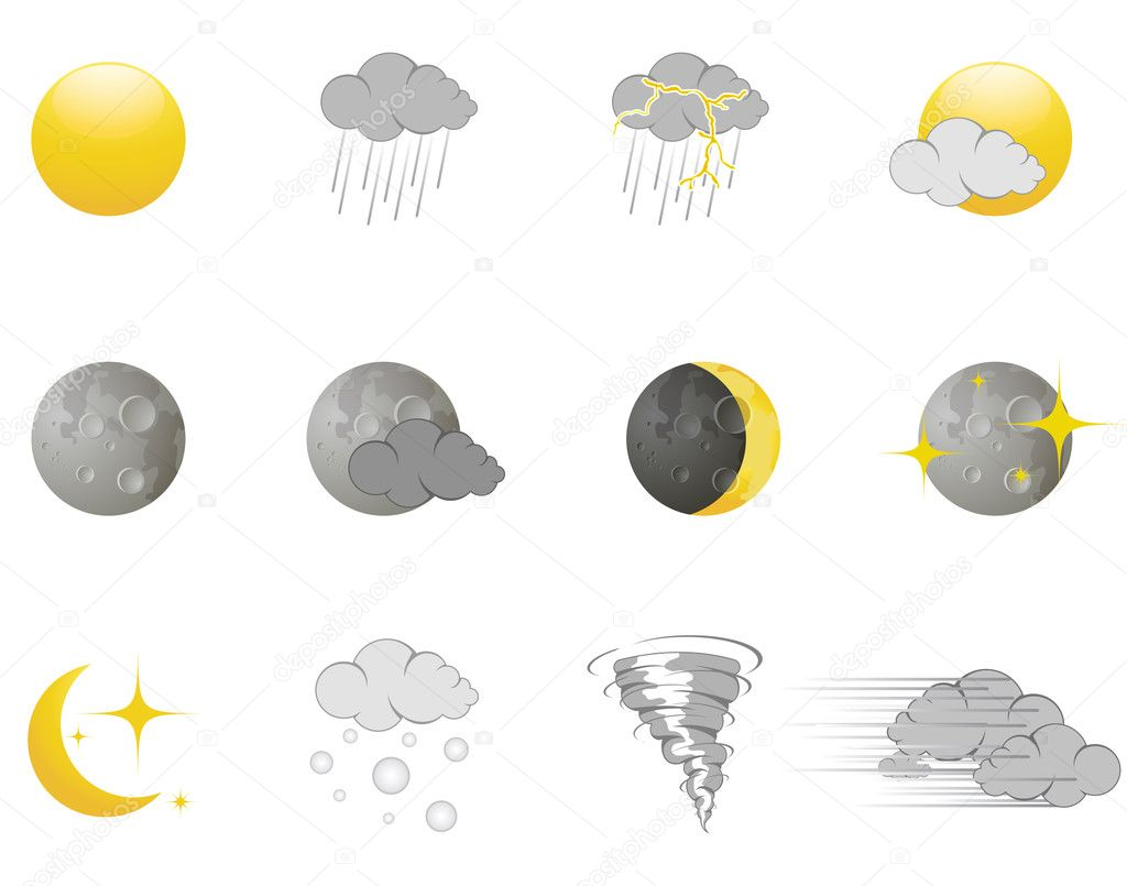 Weather icons — Stock Vector #5402766