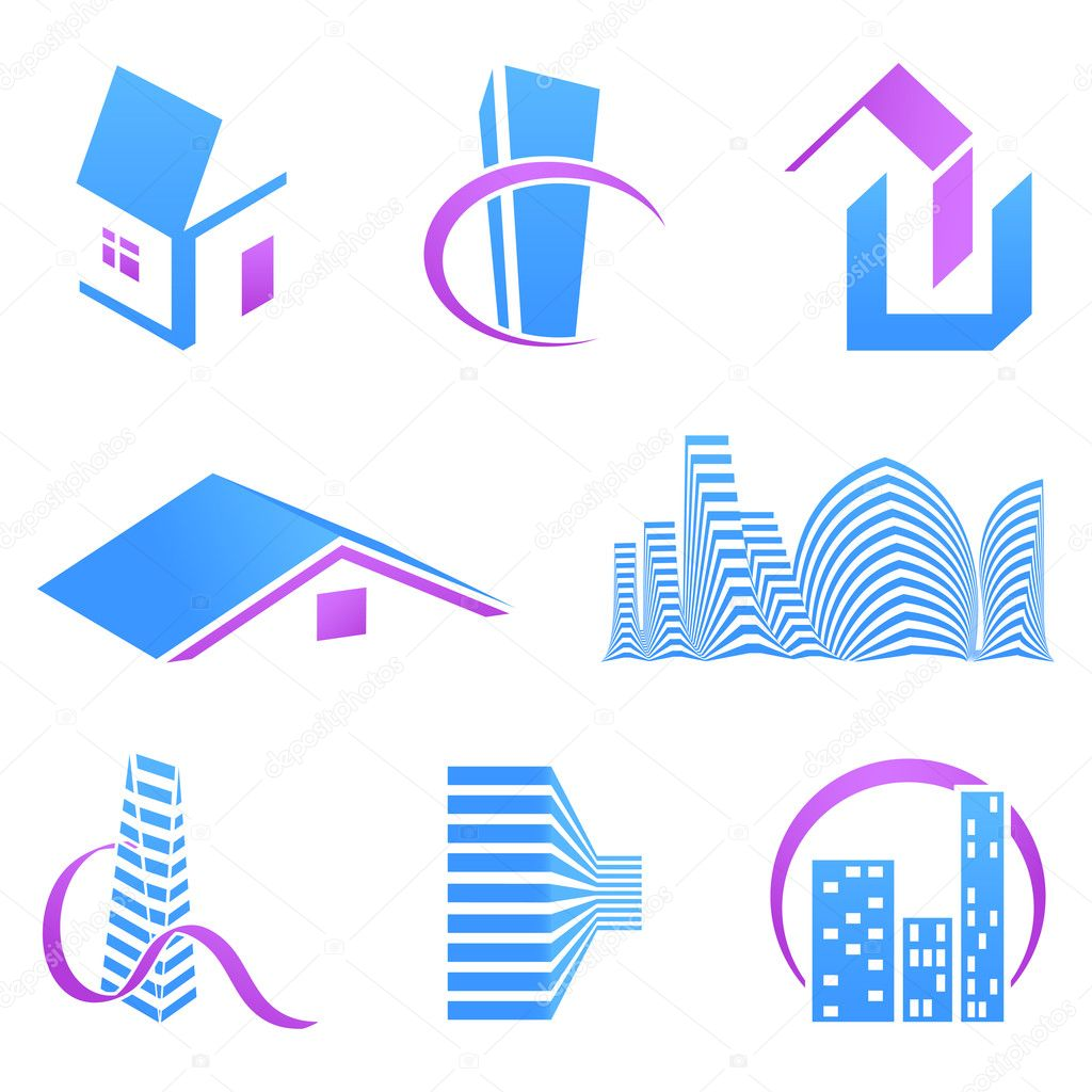 Real estate icons — Stock Vector #5402776