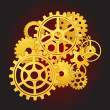 Gears in motion — Vector de stock