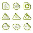 Ecology stickers — Stock Vector