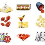 Casino and gambling icons 2 — Stock Vector