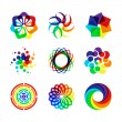 Abstract rainbow thems — Vector de stock