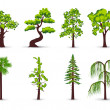 Trees icons — Vettoriali Stock