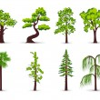 Stock vektor: Trees icons