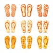 Royalty-Free Stock Vector Image: Flip flops vector