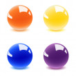Shiny balls — Stock Vector
