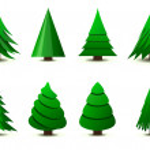 Christmas trees — Stock Vector