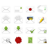 Correspondence icons — Stock Vector