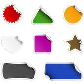 Gekleurde stickers — Stockvector