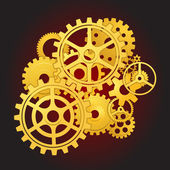 Gears in motion — Stock Vector