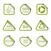 Autocollants de l'écologie — Vecteur