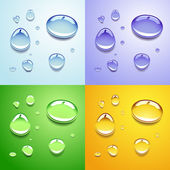 Water drops — Stock Vector