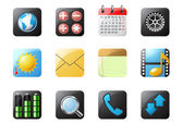 Mobile phone buttons, part 1 — Stock Vector