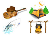 Camping icons 2 — Stock Vector