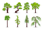 Trees icons — Stok Vektör