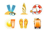 Vacation and travel icons 4 — Stock Vector