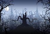 ночь хэллоуина — Cтоковый вектор