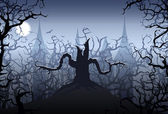 Halloween night — Vector de stock