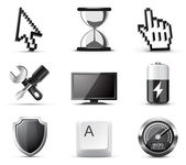 Computer icons | B&W series — Stock Vector