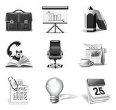 Business icons | B&W series — Stok Vektör