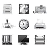 Office icons | B&W series — Stock Vector