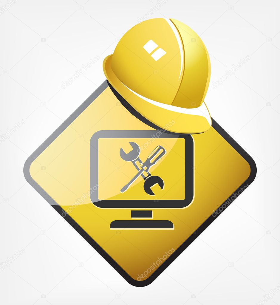 Under construction site — Stock Vector #5694335