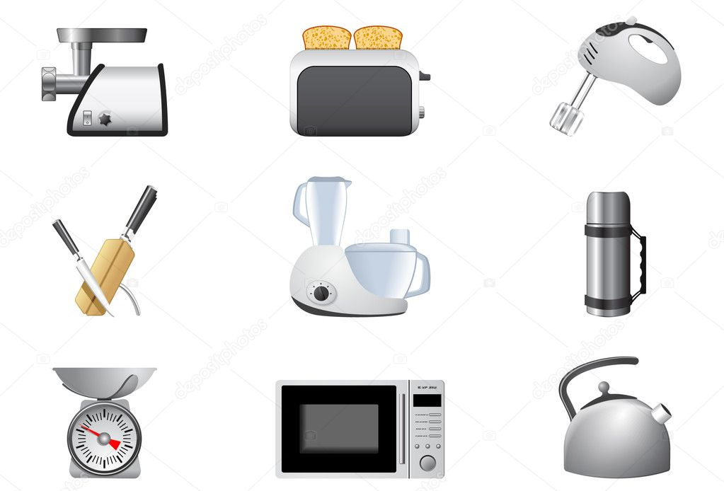 Household appliances | Kitchen, part 2 — Stock Vector #5694339