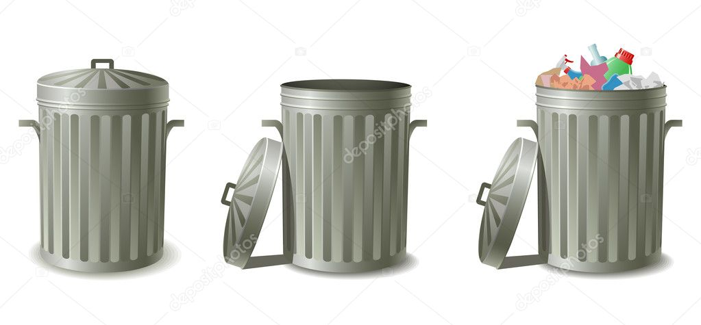 Garbage cans — Stock Vector #5694351