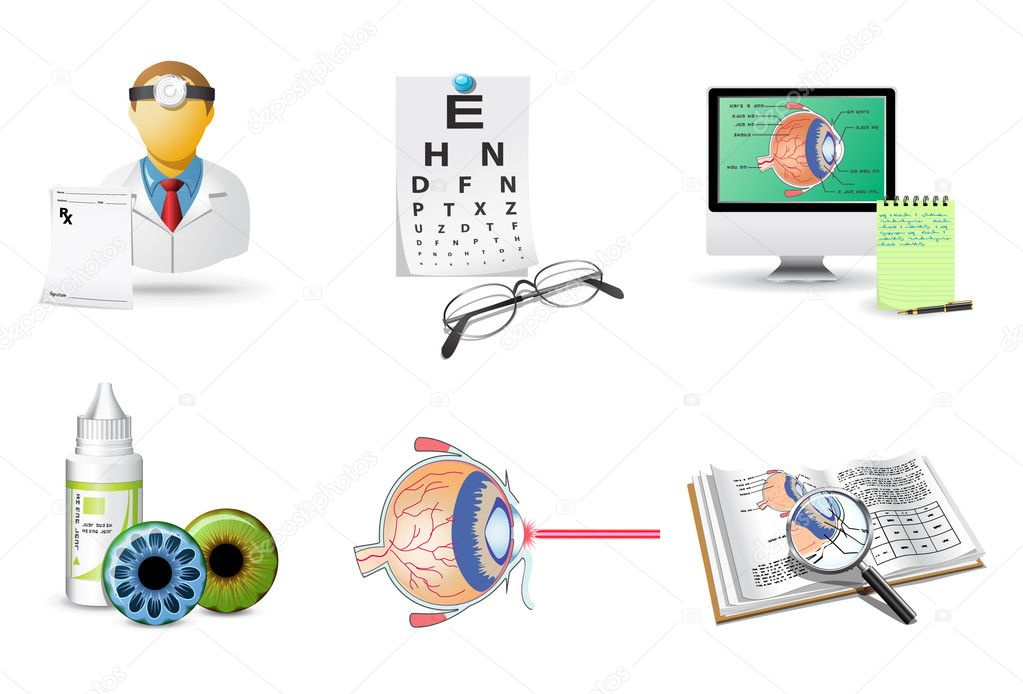 Medical icons set | Ophthalmology  Stock Vector #5694376