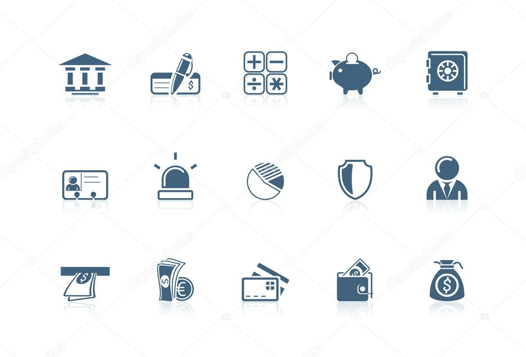 Bank icons | Picco series — Stock Vector #5694425