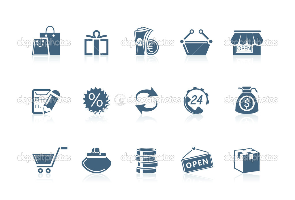 Shopping icons | Piccolo series — Stock Vector #5694469