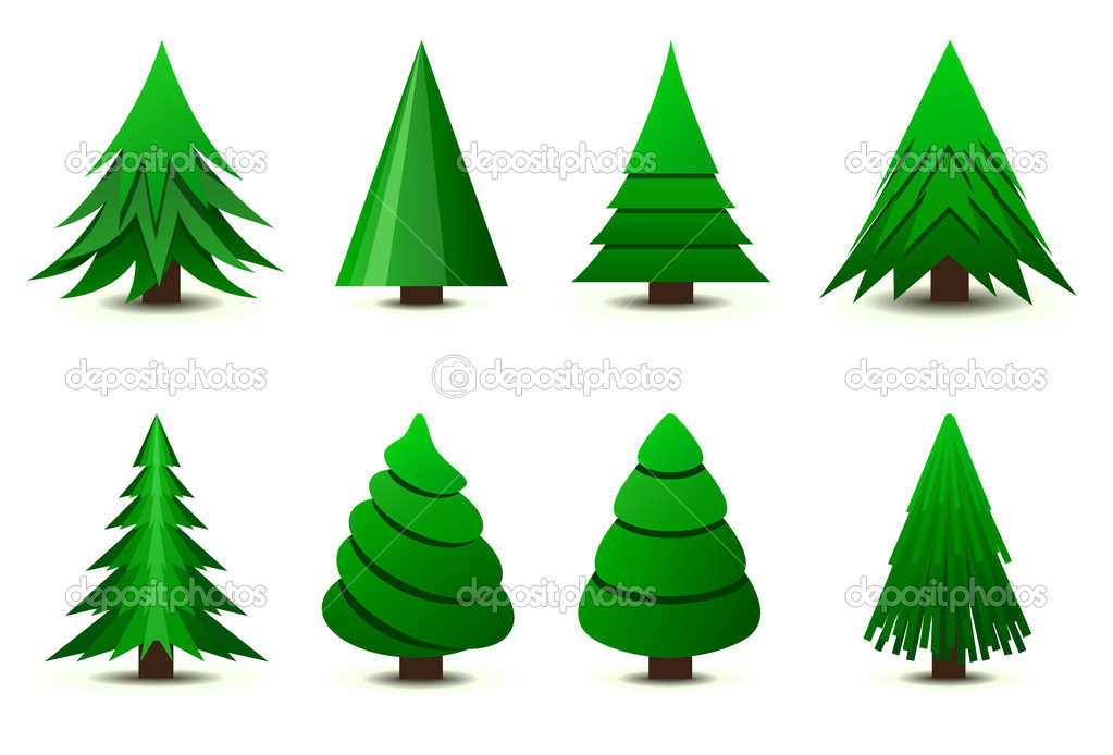Christmas trees — Stock Vector #5694526