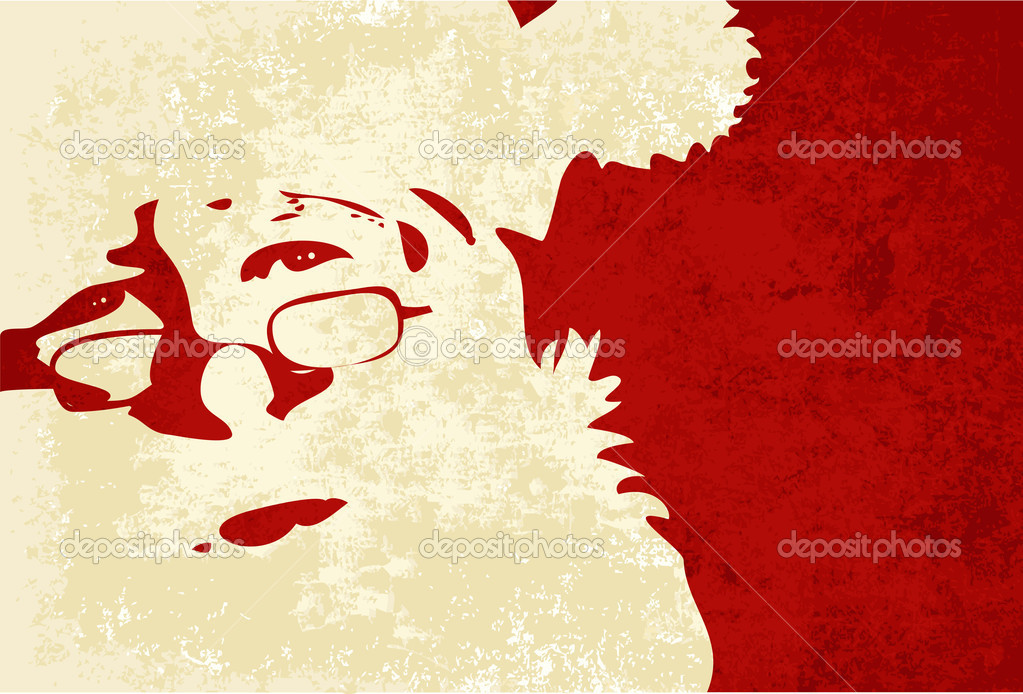 Santa Claus grunge background  Stockvectorbeeld #5694539