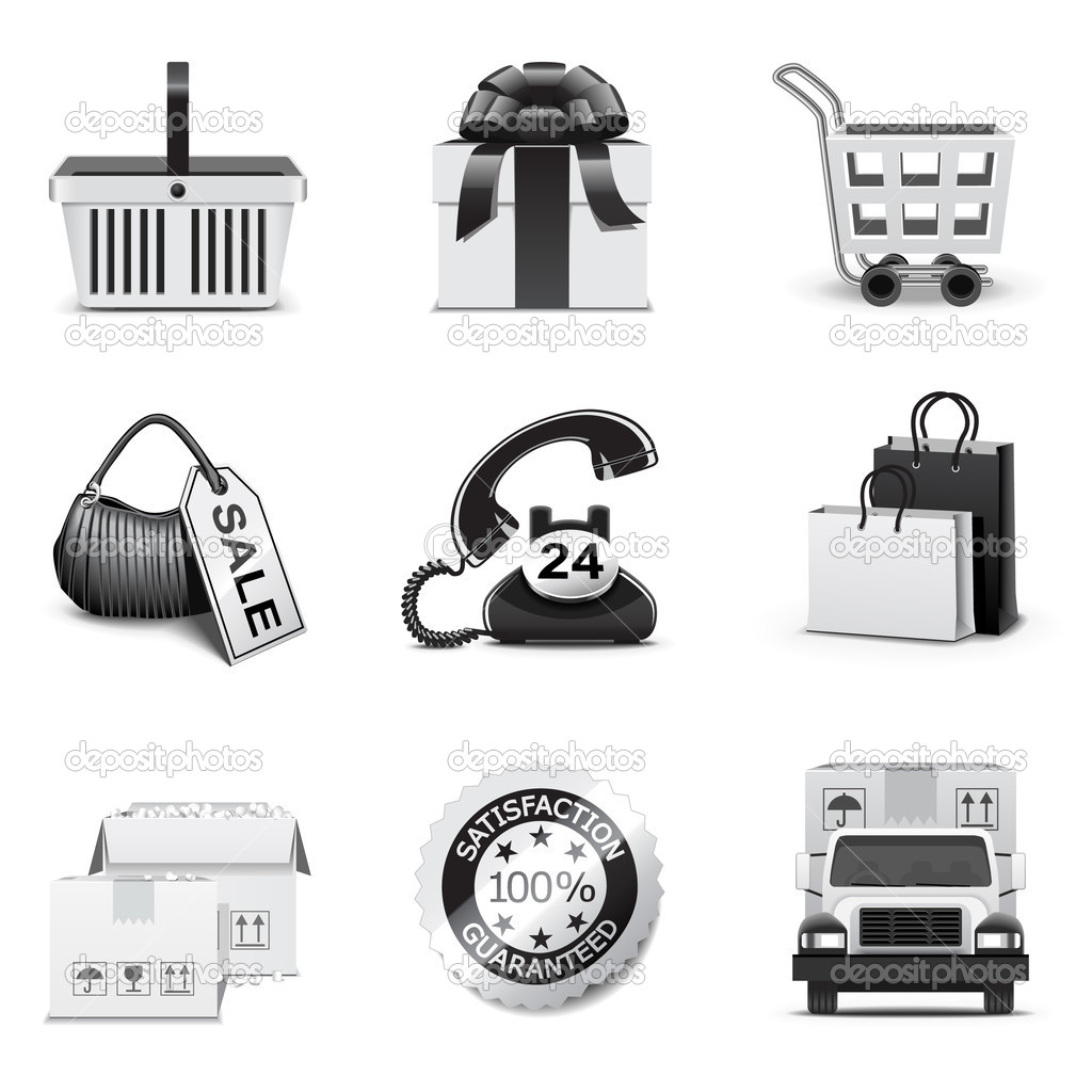 Shopping icons — Stock Vector #5694540