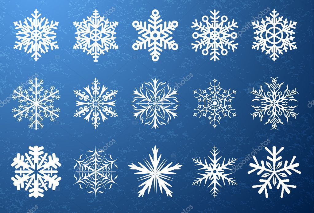 Snowflake shapes — Stock Vector #5694546