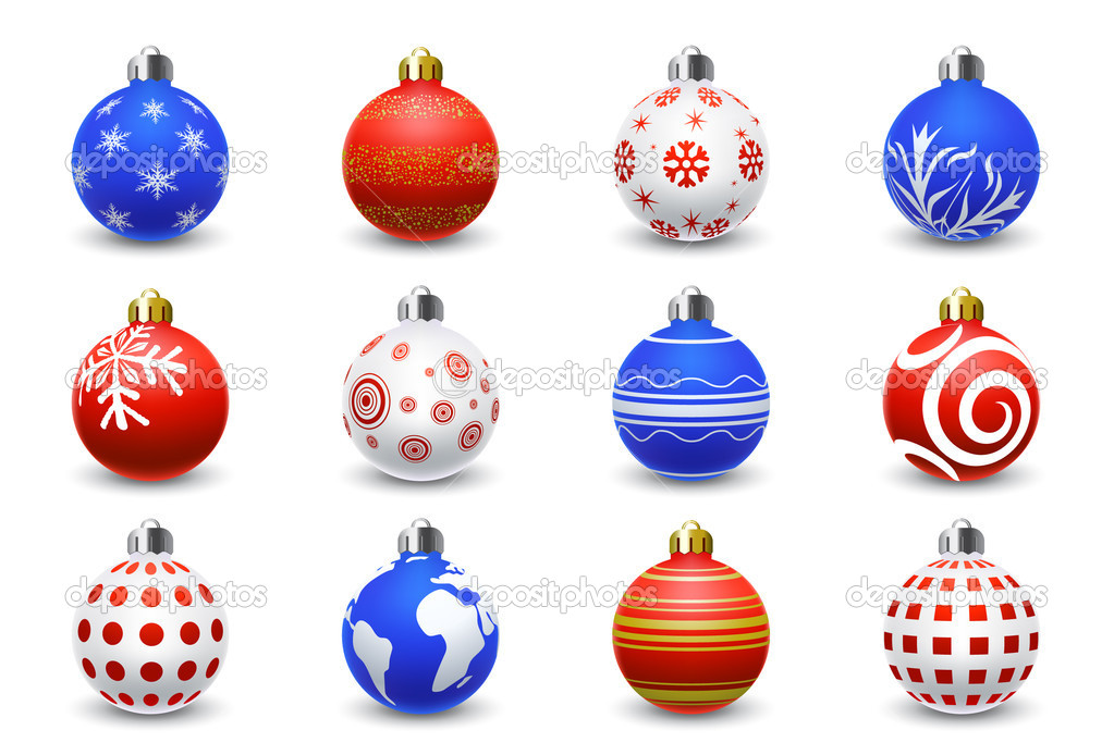 Set of 12 Christmas balls — Stock Vector #5694549
